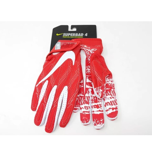 c15f01b8723 Nike men s football gloves red white Superbad 4